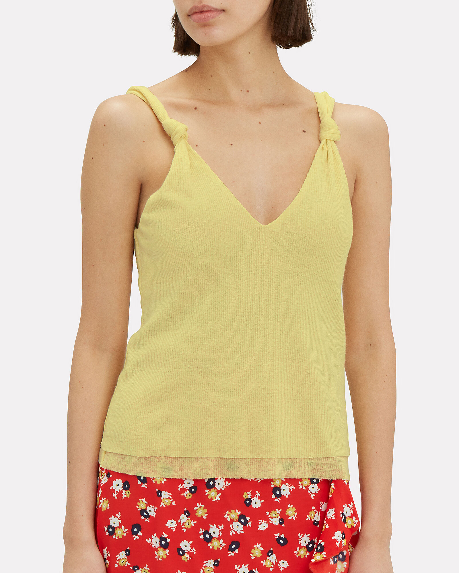 Knot Strap Tank, YELLOW, hi-res