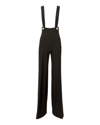 Black Flared Jumpsuit, BLACK, hi-res