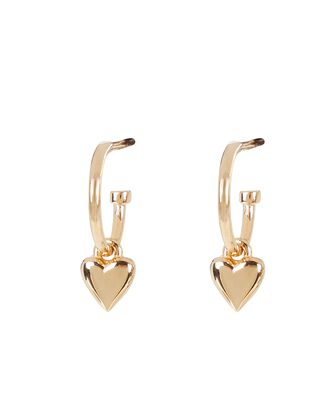 Camille Heart Hoop Earrings, , hi-res