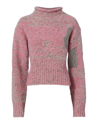 Plaited Tweed Cropped Pullover Sweater, BLUSH, hi-res