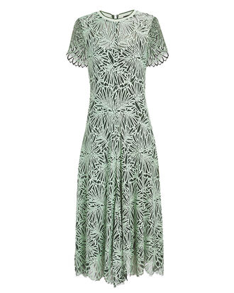 Green Lace Midi Dress, SPEARMINT/EVERGREEN, hi-res