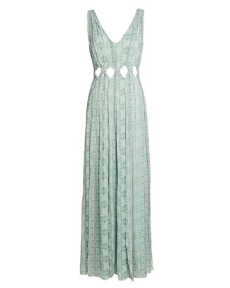 Elisa Silk Paisley Maxi Dress, LIGHT GREEN, hi-res