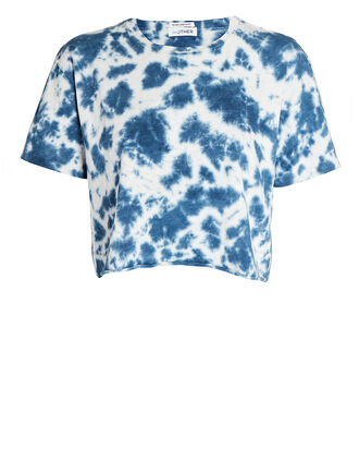 The Slouch Cutoff Tie-Dye T-Shirt, NAVY/WHITE, hi-res