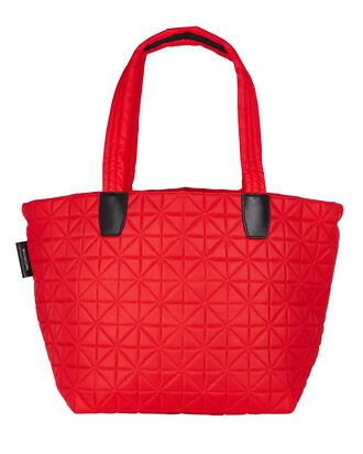 Vee Medium Quilted Tote Bag, RED, hi-res