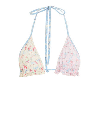 Riviera Floral Bikini Top, PINK/IVORY/FLORAL, hi-res