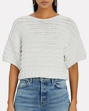 Brianne Cropped Sweater, IVORY, hi-res