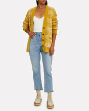 90s Oversized Cardigan, YELLOW, hi-res