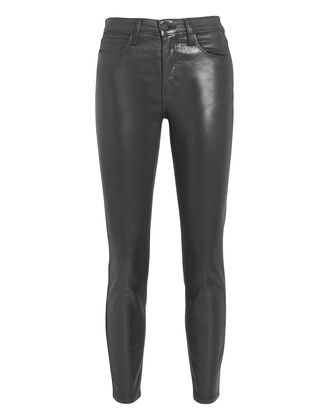 Adelaide Black Leather Pants, BLACK, hi-res