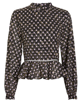 Shirley Star Print Crepe Top, MULTI, hi-res