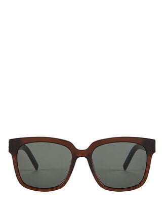 Oversized Rounded Sunglasses, CHESTNUT, hi-res