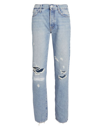 The Trickster Distressed Straight Jeans, LIGHT WASH DENIM, hi-res