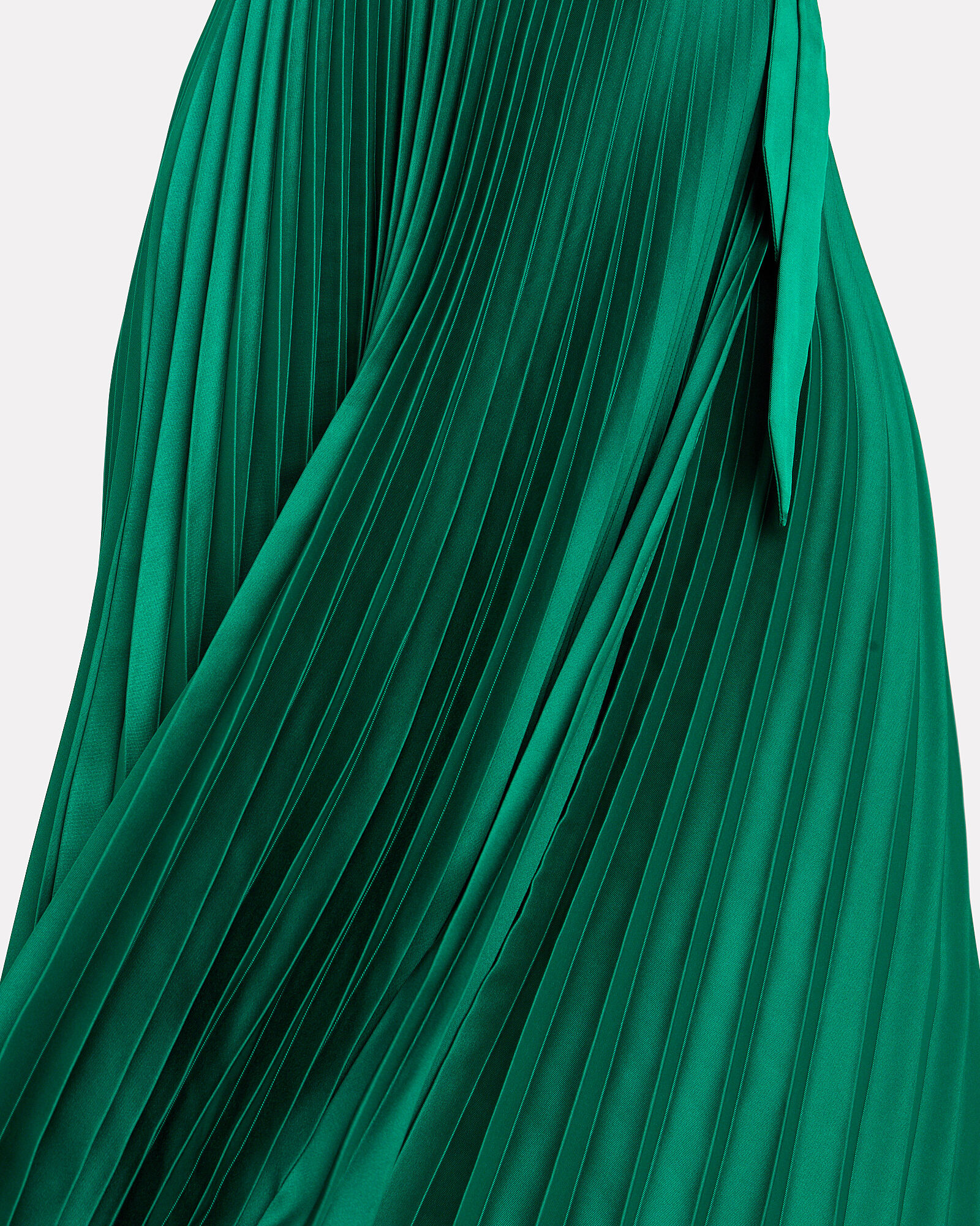 Allison Pleated Wrap Dress, GREEN, hi-res