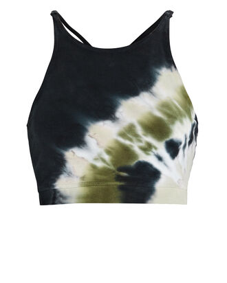 Grayson Tie-Dye Sports Bra, BLACK/GREEN, hi-res