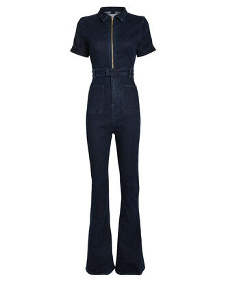 The Dark Wash Denim Jumpsuit, DARK WASH DENIM, hi-res