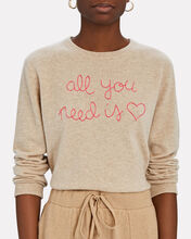 All You Need Is Love Cashmere Sweater, BEIGE, hi-res