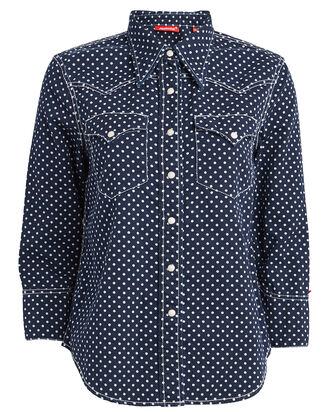 Shrunken Cowboy Polka Dot Shirt, NAVY/POLKA DOT, hi-res