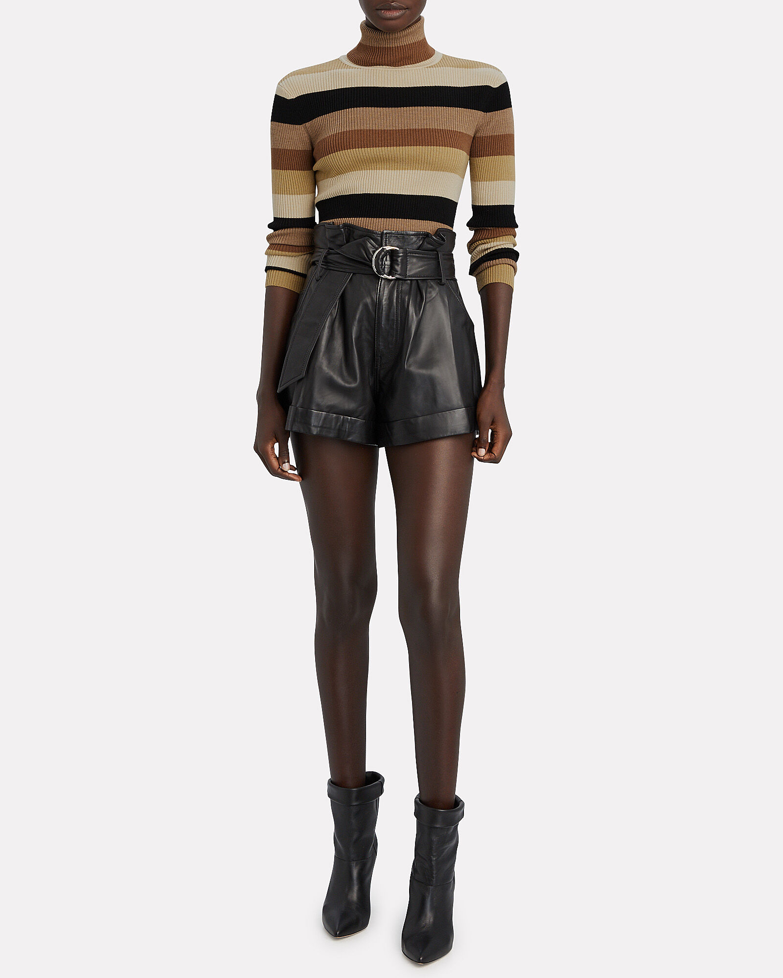 Ken Striped Rib Knit Turtleneck Top, MULTI, hi-res