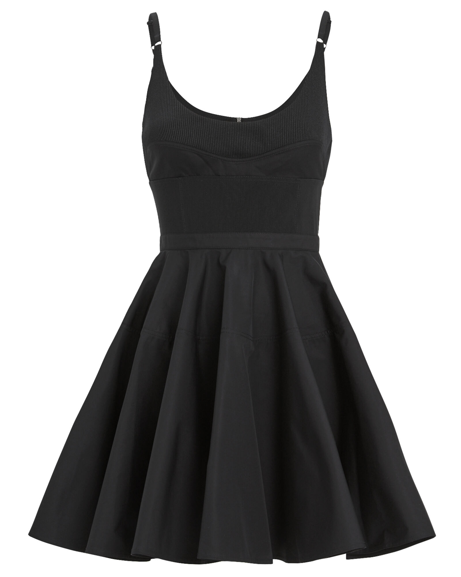 Fit And Flare Mini Dress, BLACK, hi-res
