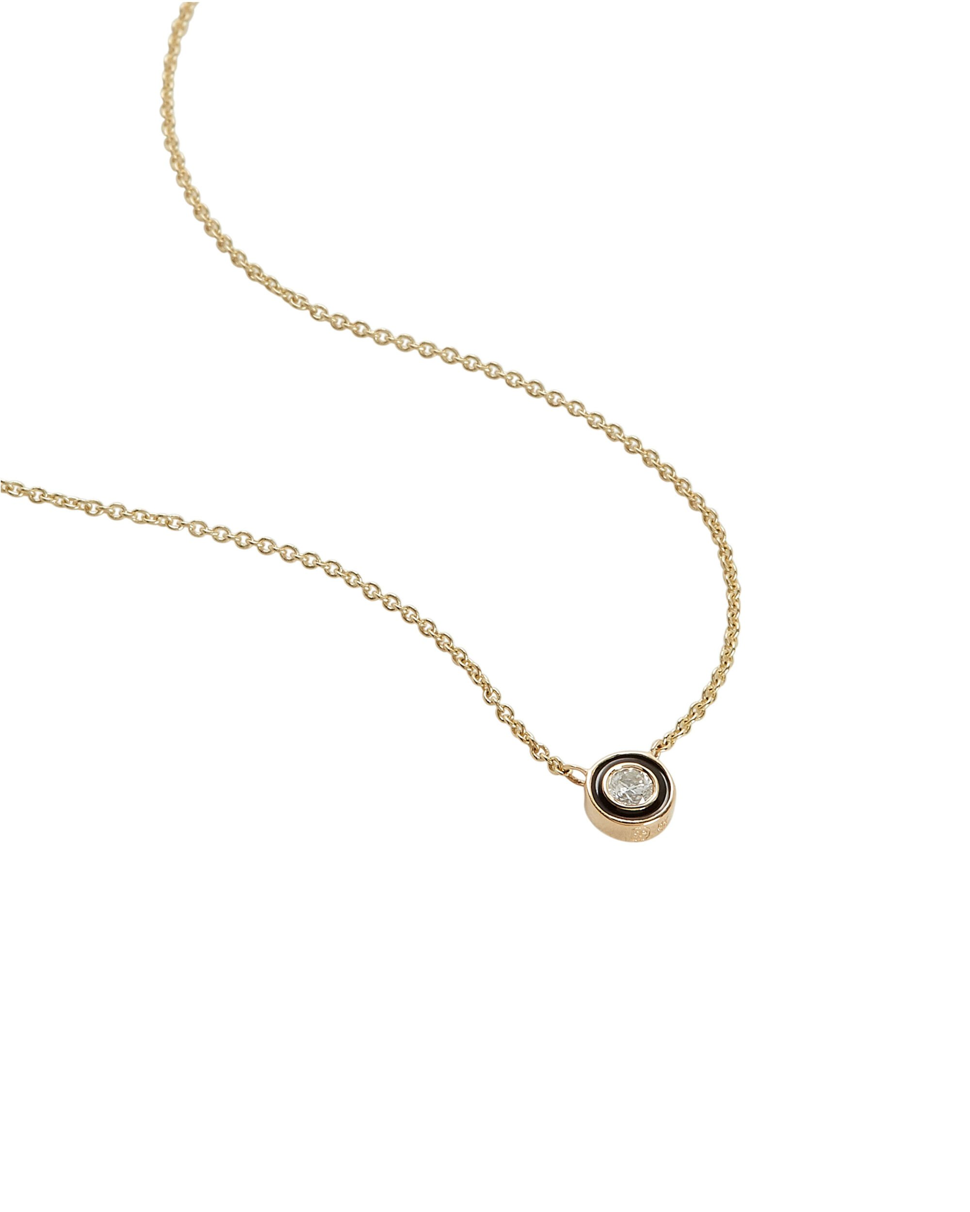 Single Stone Necklace, GOLD, hi-res