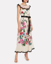 Poppy Flower Embroidered Tulle Dress, IVORY, hi-res