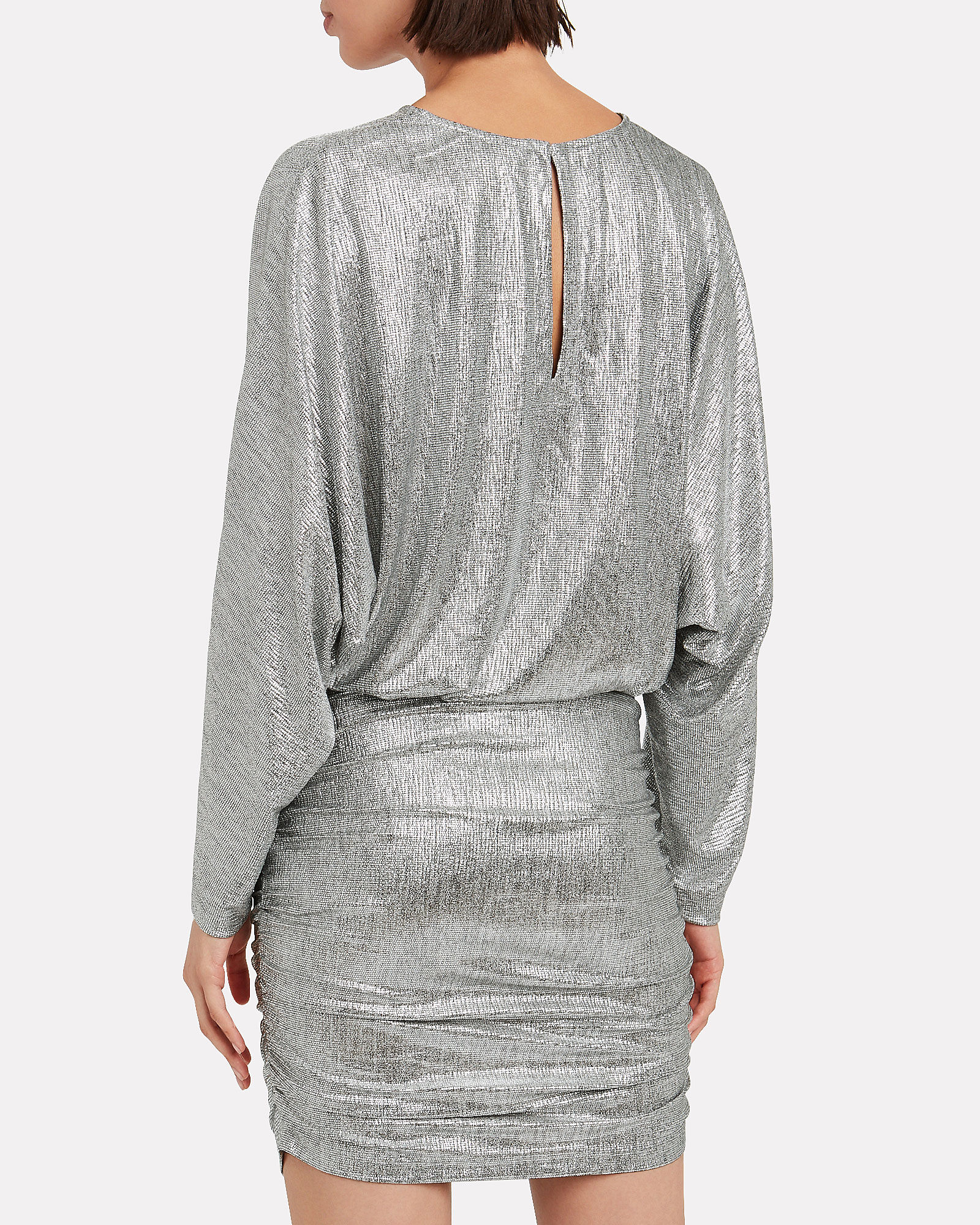 Silar Metallic Mini Dress, SILVER, hi-res