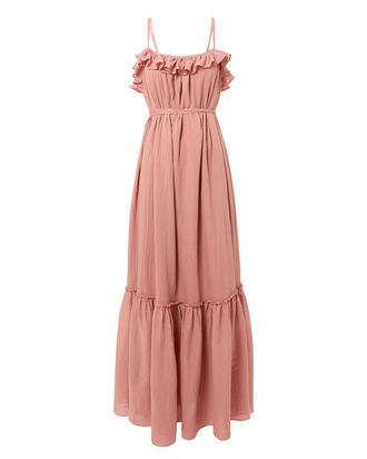 Artemis Ruffle Gown, PINK, hi-res
