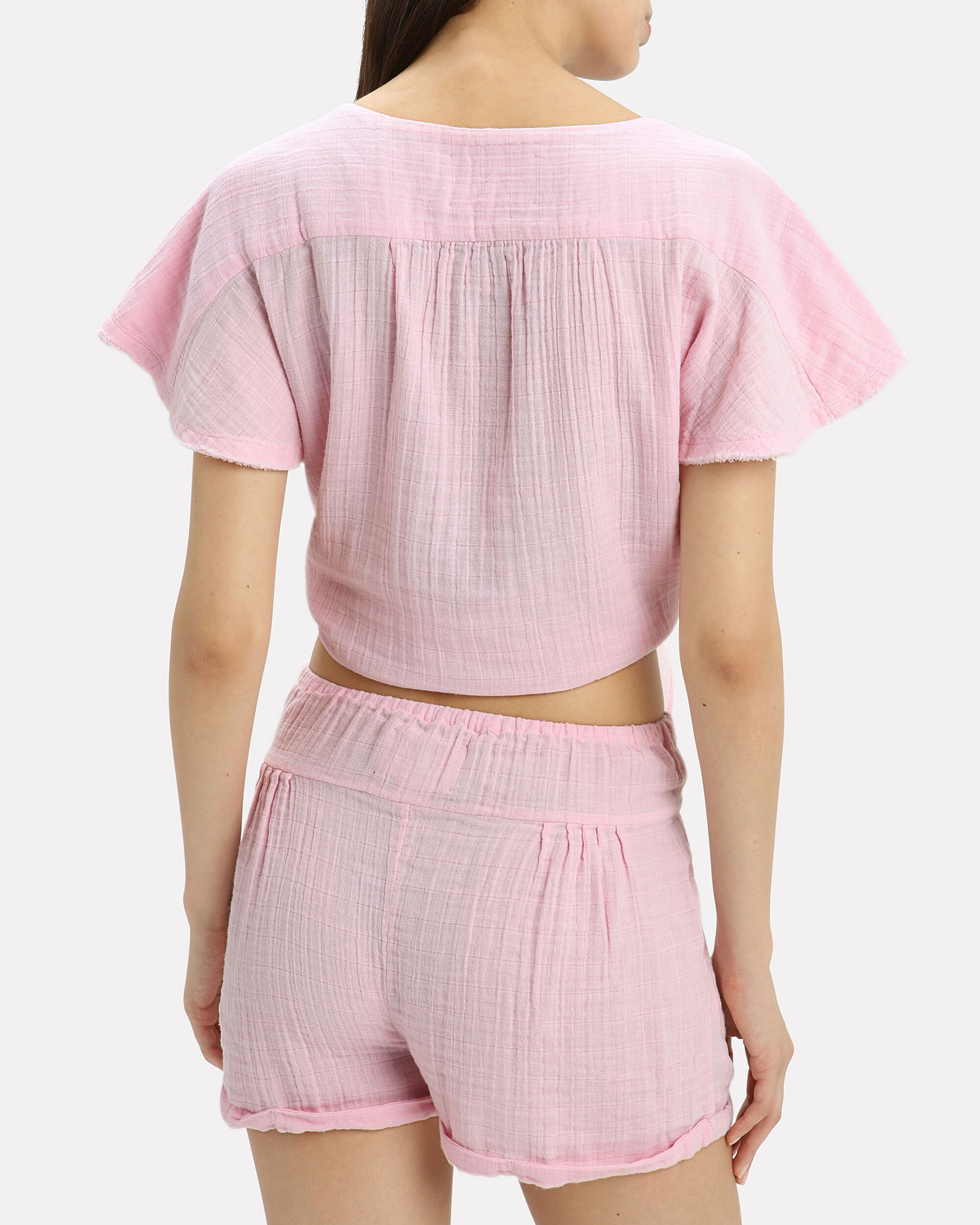Maithili Blush Crop Top, BLUSH, hi-res