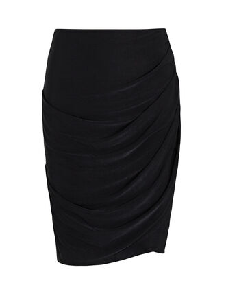 Reagan Mini Wrap Skirt, BLACK, hi-res