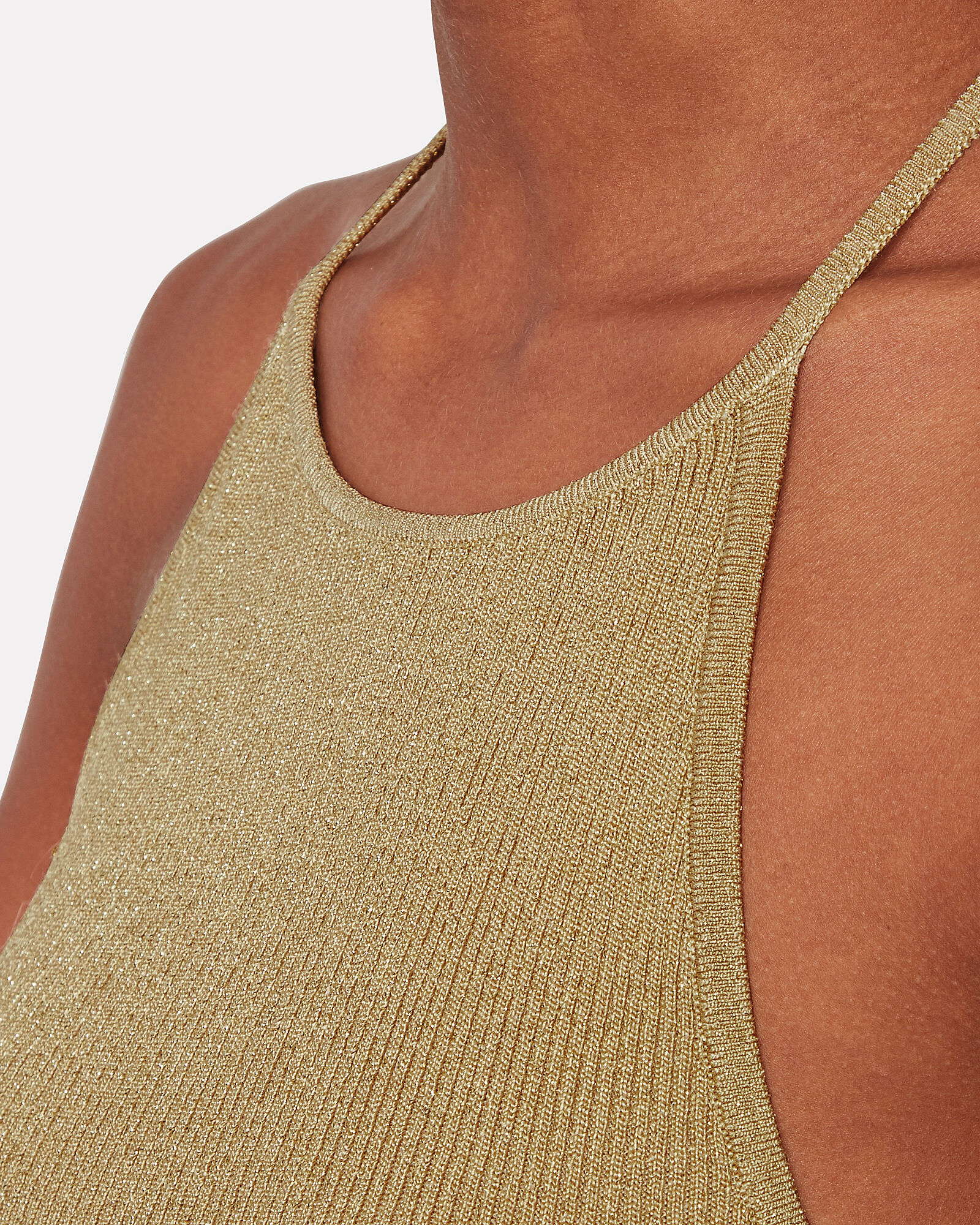 Vivienne Knit Halter Top, GOLD, hi-res