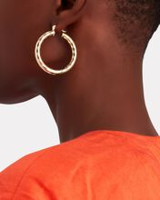 The Edition Hammered Hoop Earrings, GOLD, hi-res