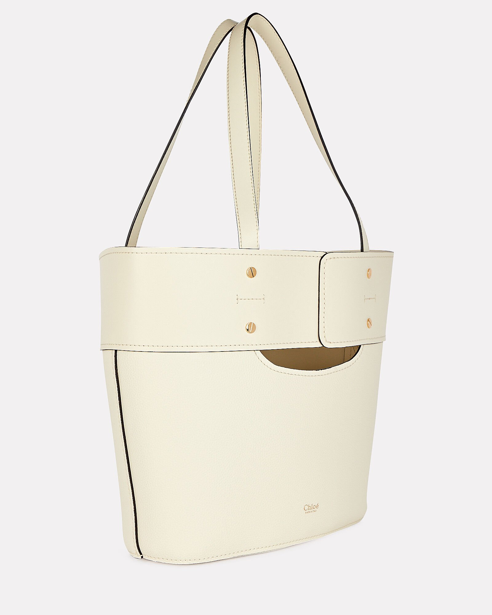 Small Aby Lock Tote, IVORY, hi-res