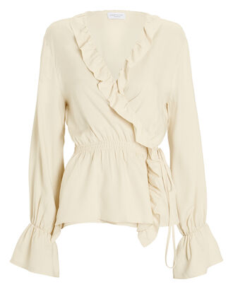 Benedicte Wrap Top, IVORY, hi-res