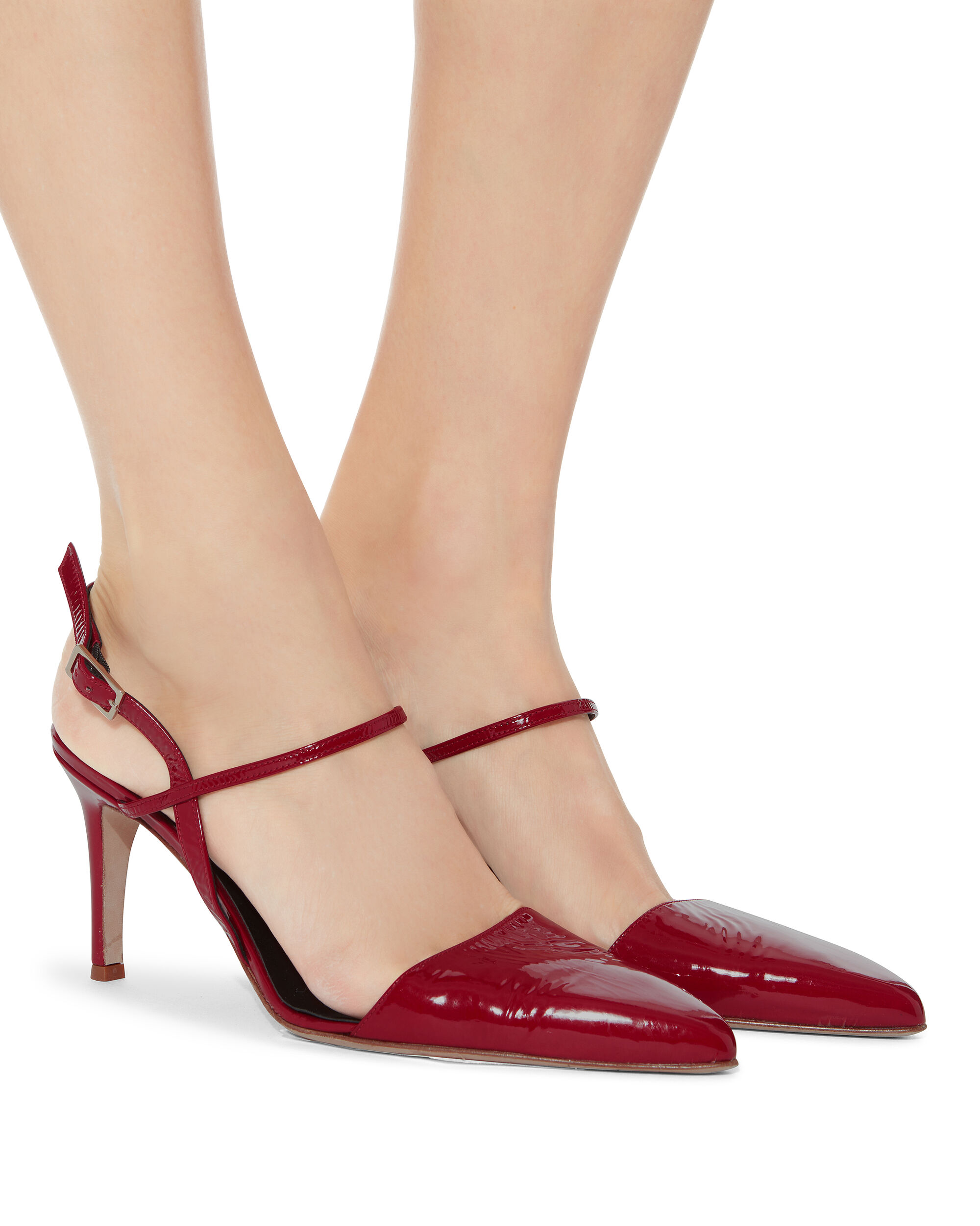 Eli Red Patent Leather Slingback Pumps, RED, hi-res