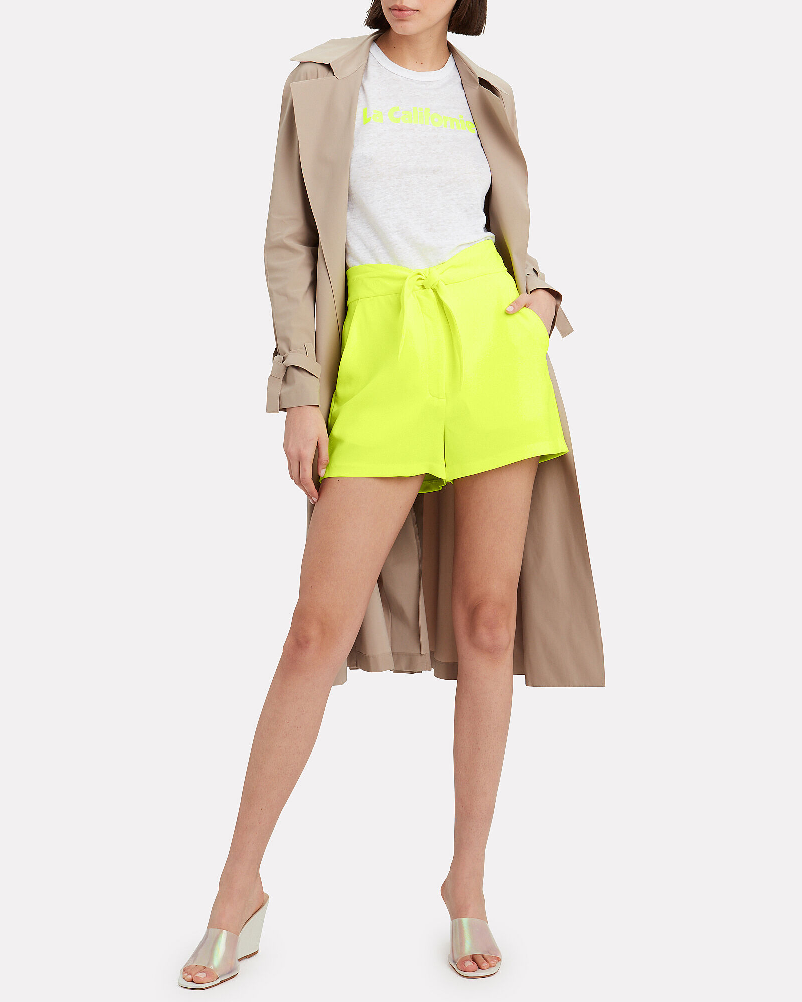 Kerry Bow Shorts, NEON YELLOW, hi-res