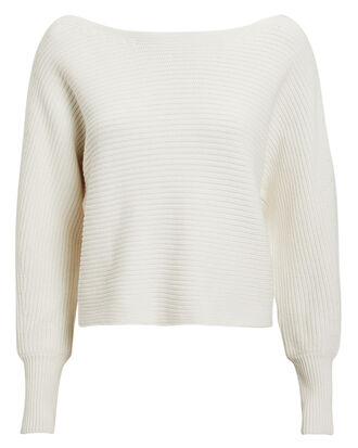 Luna Off Shoulder Sweater, IVORY, hi-res