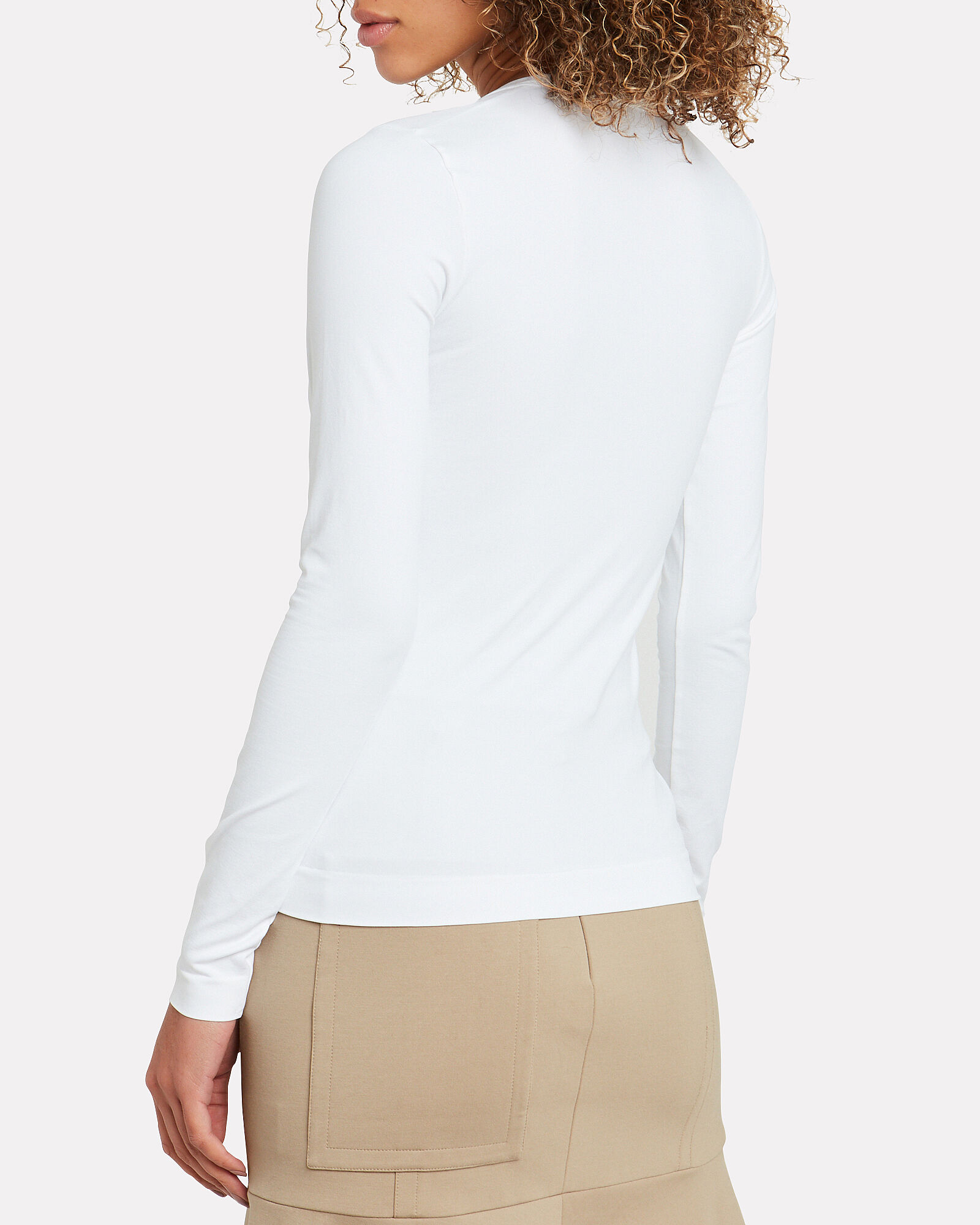 Seamless Long Sleeve T-Shirt, WHITE, hi-res