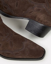 Low Texas Ankle Booties, CHOCOLATE, hi-res