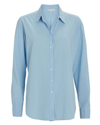 Beau Cotton Button-Down Shirt, , hi-res