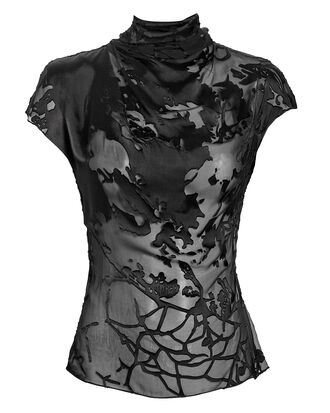 Havana Floral Burnout Blouse, BLACK, hi-res