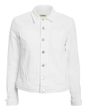 Celine Denim Jacket, WHITE, hi-res