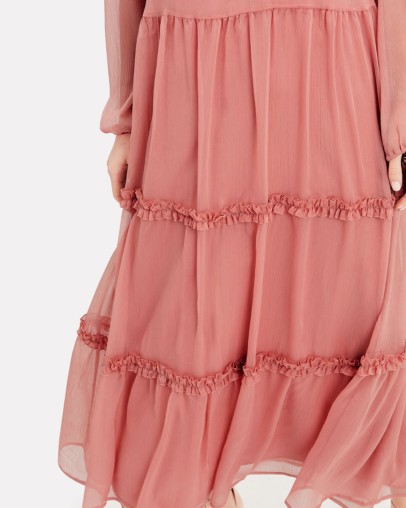 Klaire Tiered Maxi Dress, PINK, hi-res