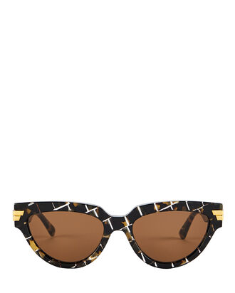 Intrecciato Cat Eye Sunglasses, BROWN, hi-res
