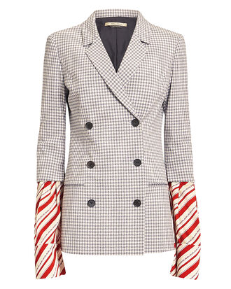 Truman Jacquard Blazer, GREY/WHITE/RED, hi-res