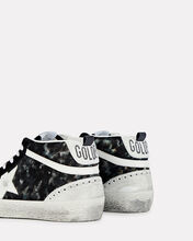 Mid Star Leather Sneakers, BLACK, hi-res