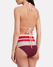 Midsummer Knit Bikini Bottoms, RED/STRIPES, hi-res