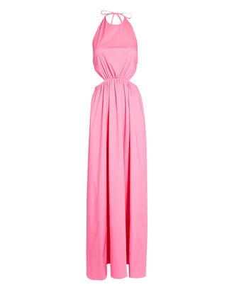 Apfel Poplin Maxi Dress, PINK, hi-res