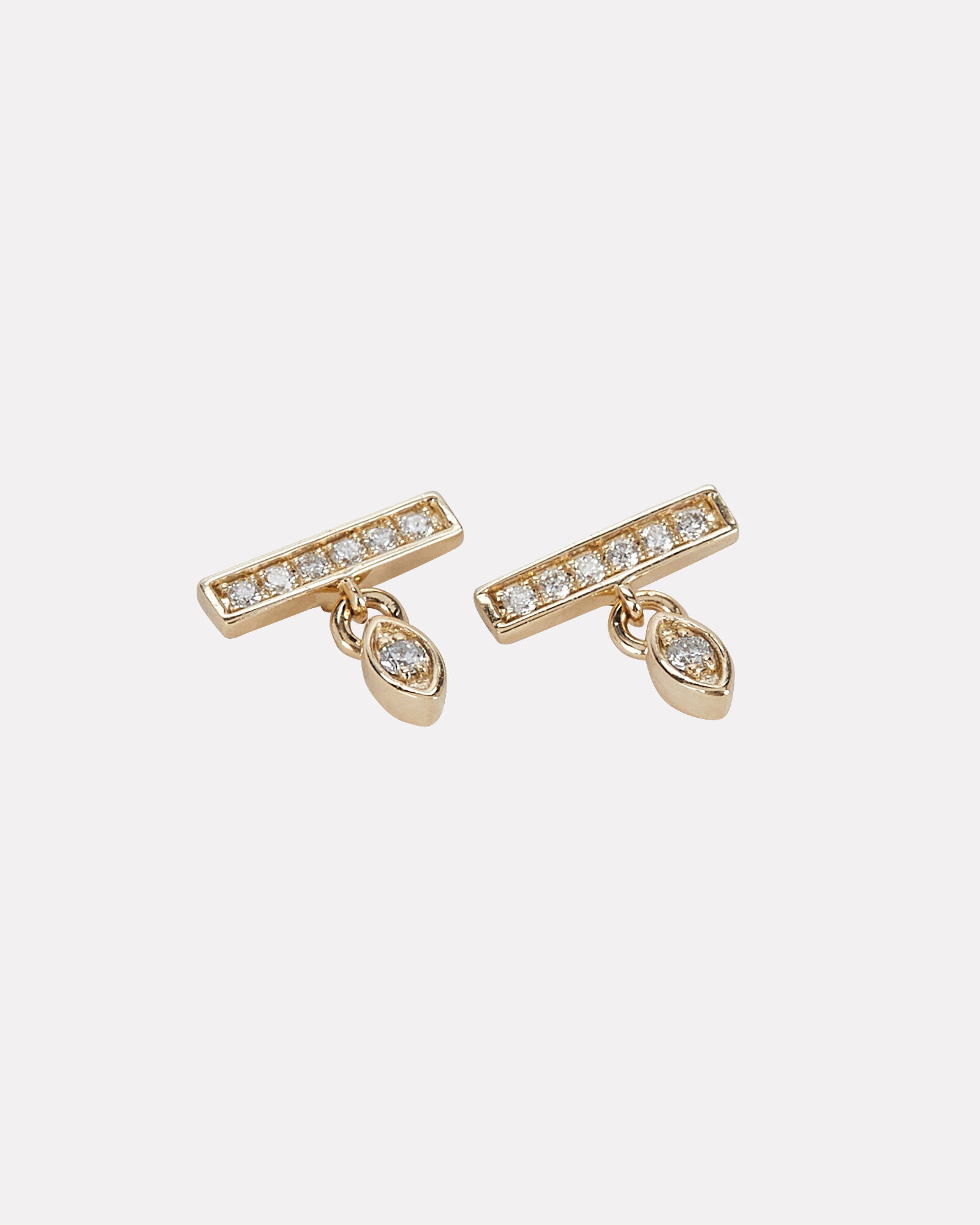 Marquis Drop Bar Earrings, GOLD, hi-res