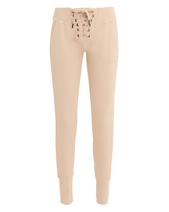 Maddox Lace-Up Sweatpants, PINK, hi-res