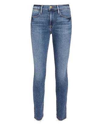 Le High Studded Skinny Jeans, DENIM-LT, hi-res