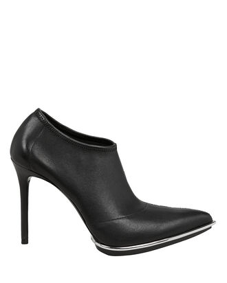 Cara Silver Trim Booties, BLACK, hi-res